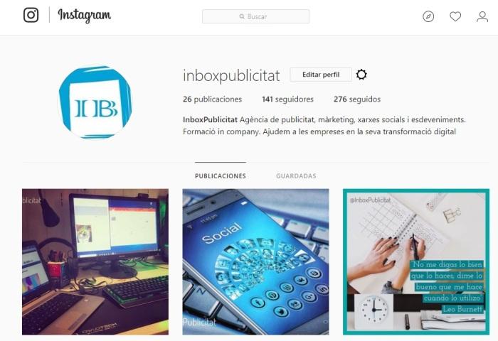 Instagram Inbox Publicitat